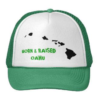 BORN & RAISED OAHU HATS