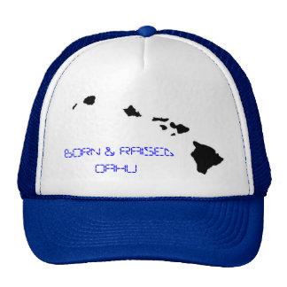 BORN RAISED OAHU MESH HAT