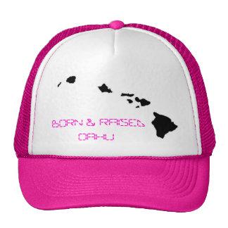 BORN & RAISED OAHU MESH HAT