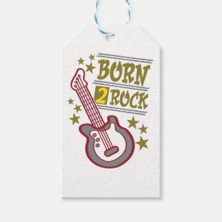 Born  rock Guitar, guitarist design Gift Tags