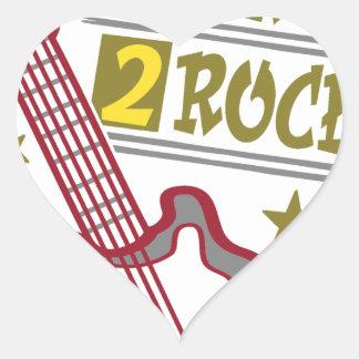 Born  rock Guitar, guitarist design Heart Sticker