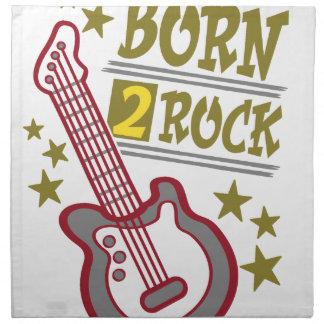 Born  rock Guitar, guitarist design Napkin