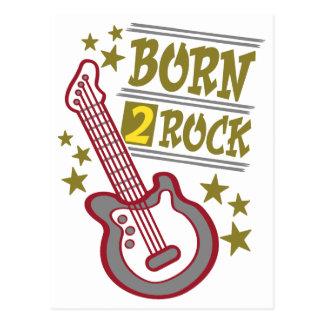 Born  rock Guitar, guitarist design Postcard