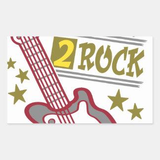 Born  rock Guitar, guitarist design Rectangular Sticker