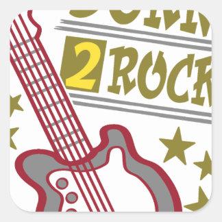 Born  rock Guitar, guitarist design Square Sticker
