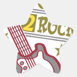 Born  rock Guitar, guitarist design Star Sticker