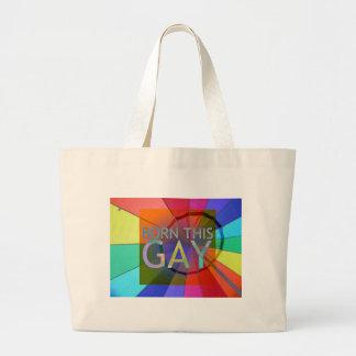 Born This Gay Large Tote Bag