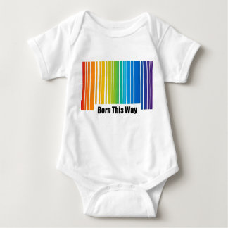 Born This Way Barcode Baby Bodysuit