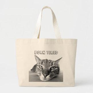 Born Tired Jumbo Tote Bag
