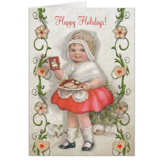 Born to Bake Vintage Girl - Customize Card