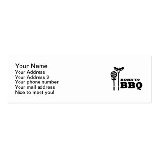 Born to BBQ Pack Of Skinny Business Cards