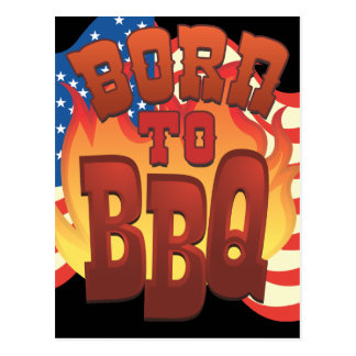 Born to BBQ Postcard