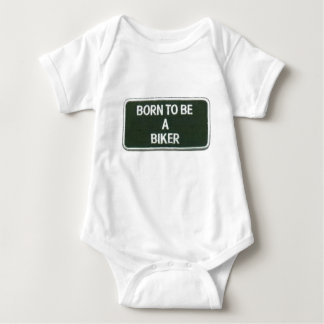 born to be a biker baby bodysuit