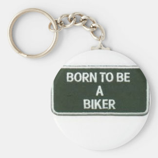 born to be a biker basic round button key ring