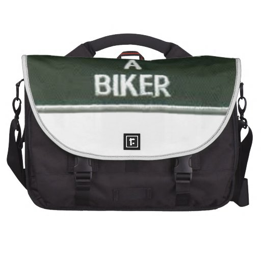 born to be a biker laptop bag