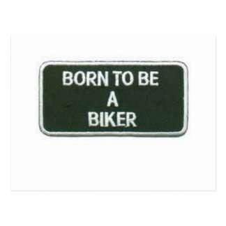 born to be a biker postcard