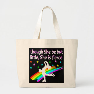 BORN TO BE A FIGURE SKATING CHAMPION LARGE TOTE BAG