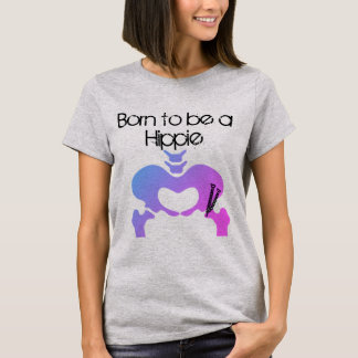 Born to be a Hippie PAO Women's T Shirt Purple Hue