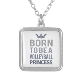 Born To Be A Volleyball Princess Necklace