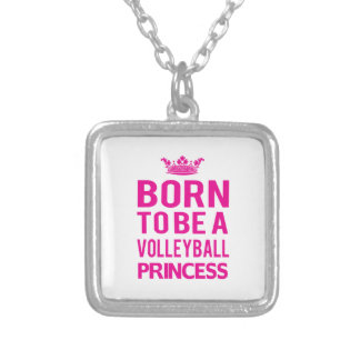 Born To Be A Volleyball Princess Necklace (pink)