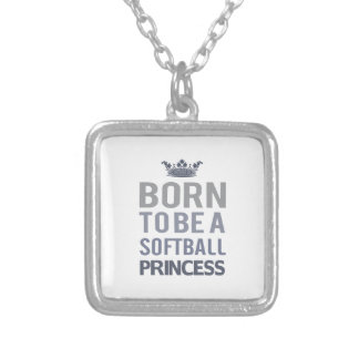 Born To Be A Volleyball Princess Silver Plated Necklace