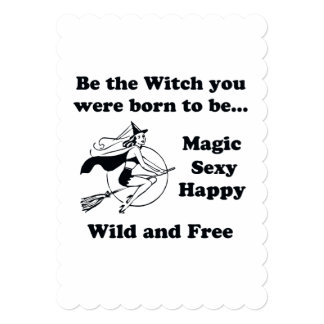 Born To Be A Witch 13 Cm X 18 Cm Invitation Card