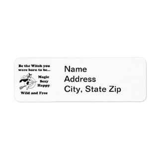 Born To Be A Witch Return Address Label