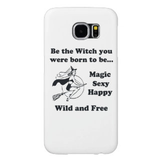 Born To Be A Witch Samsung Galaxy S6 Cases