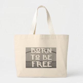 Born to Be Free Jumbo Tote Bag