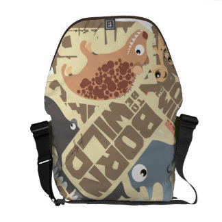 Born (to be) Wild African Cartoon Animals Bag Courier Bags