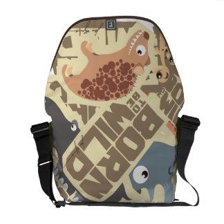 Born (to be) Wild African Cartoon Animals Bag Messenger Bag