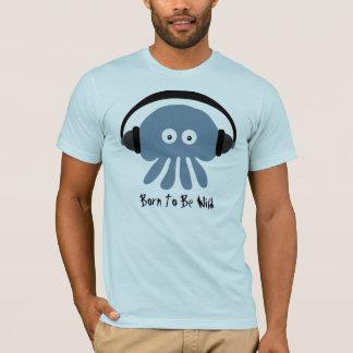 Born To Be Wild Blue Jellyfish & Headphones TShirt