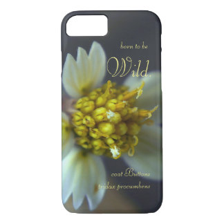 Born to be wild. Coat Buttons (Tridax Procumbens) iPhone 7 Case