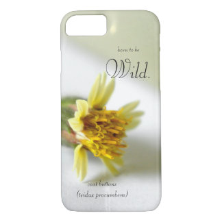Born to be wild. Coat Buttons (Tridax Procumbens) iPhone 8/7 Case
