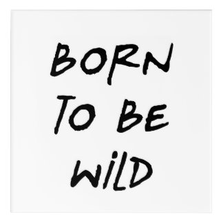 born to be wild funny text message humor rebel acrylic wall art