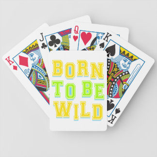 Born to be wild kid design bicycle playing cards