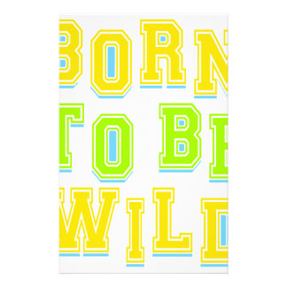 Born to be wild kid design stationery