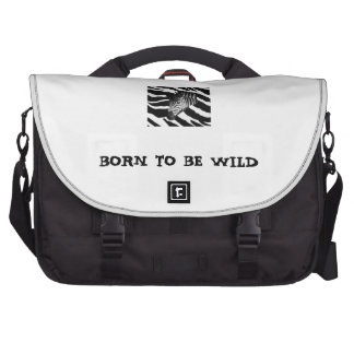 BORN TO BE WILD LAPTOP MESSENGER BAG