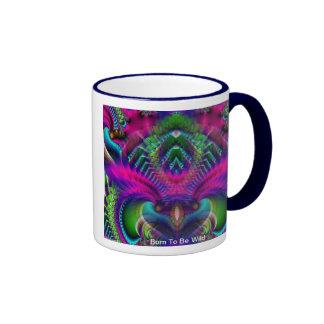 Born To Be Wild Ringer Coffee Mug