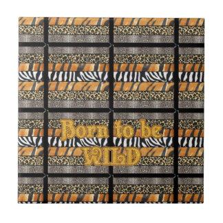 Born to be Wild Safari Animal Print Tiles