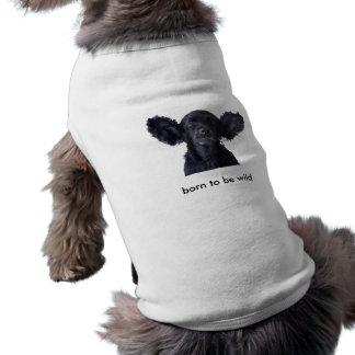 born to be wild sleeveless dog shirt