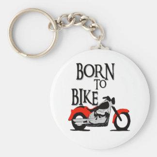 Born to Bike Basic Round Button Key Ring