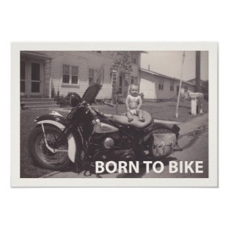 born to bike card