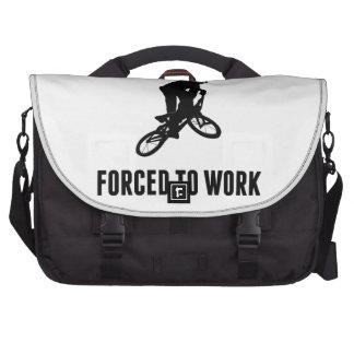 Born To BMX Forced To Work Laptop Messenger Bag