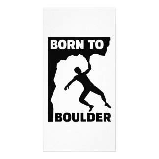 Born to Boulder Photo Greeting Card