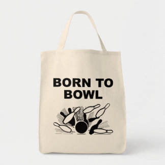 Born To Bowl Tote Bags