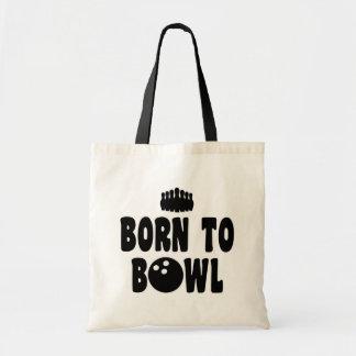 Born To Bowl Budget Tote Bag