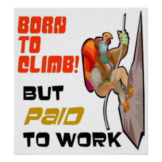 Born to Climb (but paid to work) Poster