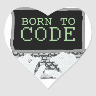 Born to Code Heart Sticker