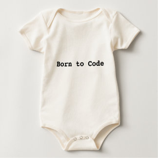 Born to Code Onesey Baby Bodysuit